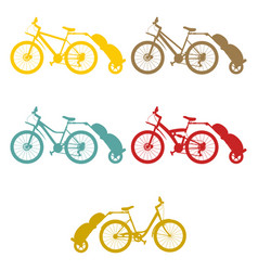 Set bike trailer vector