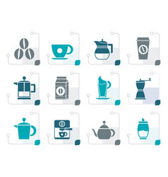 Stylizedcoffee industry signs and icons vector