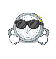 Super cool tron coin character cartoon vector