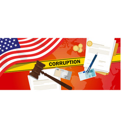 Usa united states of america fights corruption vector