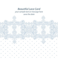 vintage delicate lace card handmade ornament for vector image vector image