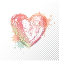 watercolour heart vector image