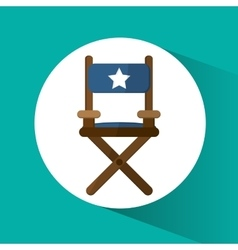 Directors chair cinema and movie design vector