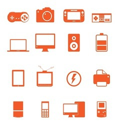 Electronic technology device icon basic style vector