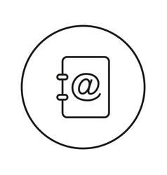 Address book line icon vector