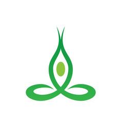Abstract leaf meditation logo image vector