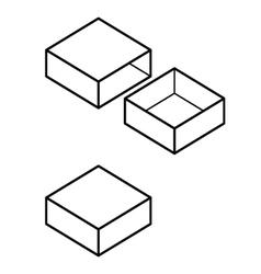 slidebox vector image