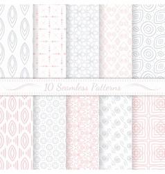 Set of ten seamless modern patterns vector image