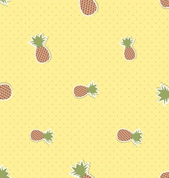 Pineapple pattern seamless texture with ripe red vector