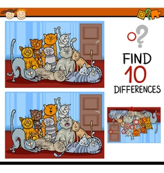 Finding differences game cartoon vector