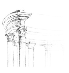 Architectural element for your design vector