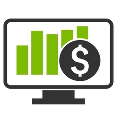 Stock market monitoring flat icon vector