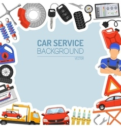 Car service frame vector