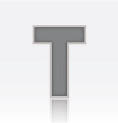 Alphabet T vector image vector image