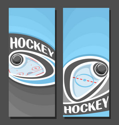Banners for ice hockey vector