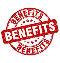 Benefits stamp vector