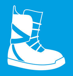 boot for snowboarding icon white vector image vector image