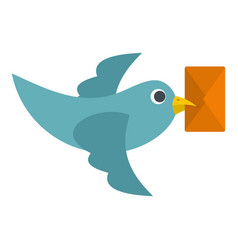 Dove carrying envelope icon isolated vector