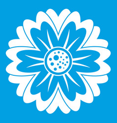 flower icon white vector image vector image