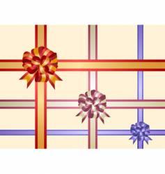 gift ribbons vector image vector image