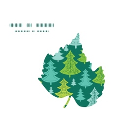 holiday christmas trees leaf silhouette pattern vector image