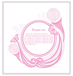 Invitation template with floral elements vector image vector image