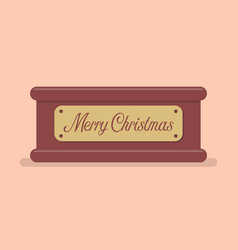 Merry christmas tag label vector
