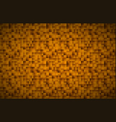 modern golden mosaic pattern gold squares vector image