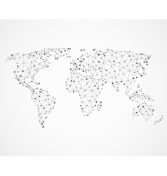 Networking world map texture low poly earth vector image vector image