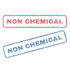 Non chemical textile stamps vector