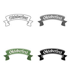 oktoberfest banner icon in cartoon style isolated vector image