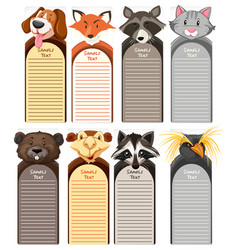 Paper templates with different types of wild vector