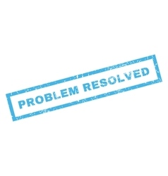 Problem Resolved Rubber Stamp vector image
