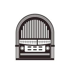 Radio retro vintage music icon graphic vector
