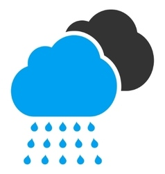 Rain Clouds Flat Icon vector image