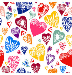Seamless pattern of heart vector