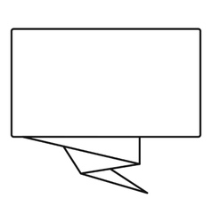 Square banner icon outline style vector