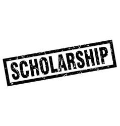 Square grunge black scholarship stamp vector