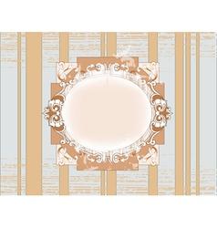 template vintage frame design vector image vector image