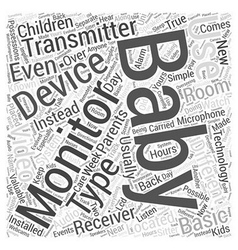 The different types of baby monitors word cloud vector