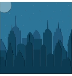 Night cityscape background vector image