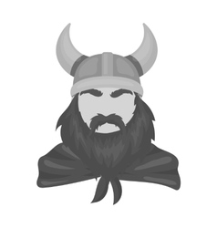 Viking icon in monochrome style isolated on white vector image