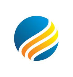 circle swirl business logo image vector image