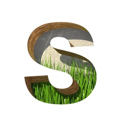 Grass cutted figure s paste to any background vector