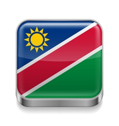 Metal icon of namibia vector