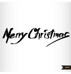 Handwritten calligraphic watercolor merry vector