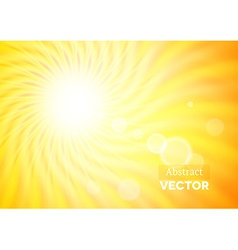 Abstract background with wavy sunshine vector