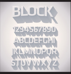3D Font with shadow vector image vector image