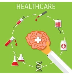 Healthcare medical flat background vector