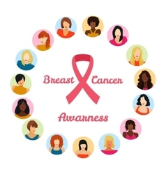 Breast cancer awarness vector